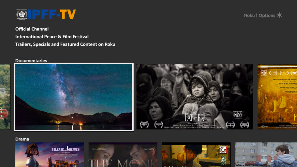 IPFF TV Channel on Roku Platform